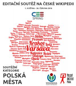 Grafika k soutěži CEE Spring - soutěžní kategorii Polská města
