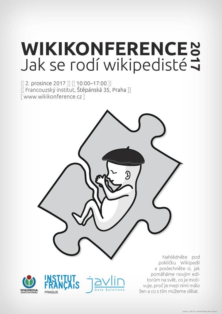 Plakát k Wikikonferenci 2017 (autor: Dominikmatus)