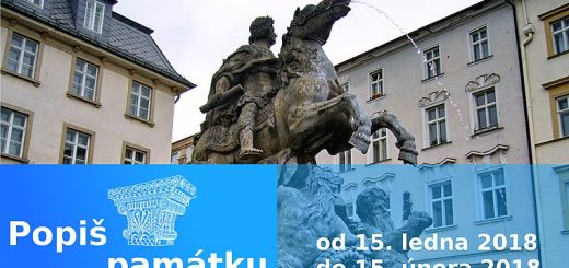 Banner soutěže Popiš památku